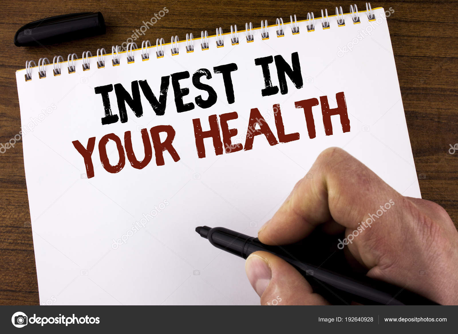 ec961be154be4 Word writing text Invest In Your Health. Business concept for Spend ...