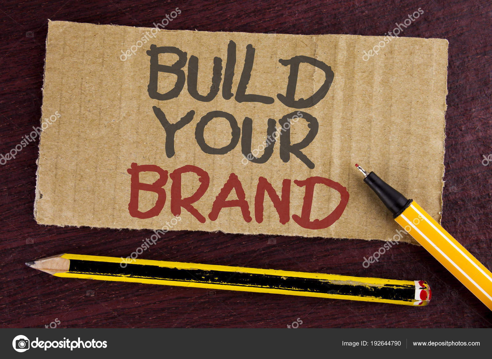 text sign showing build your brand conceptual photo create your own