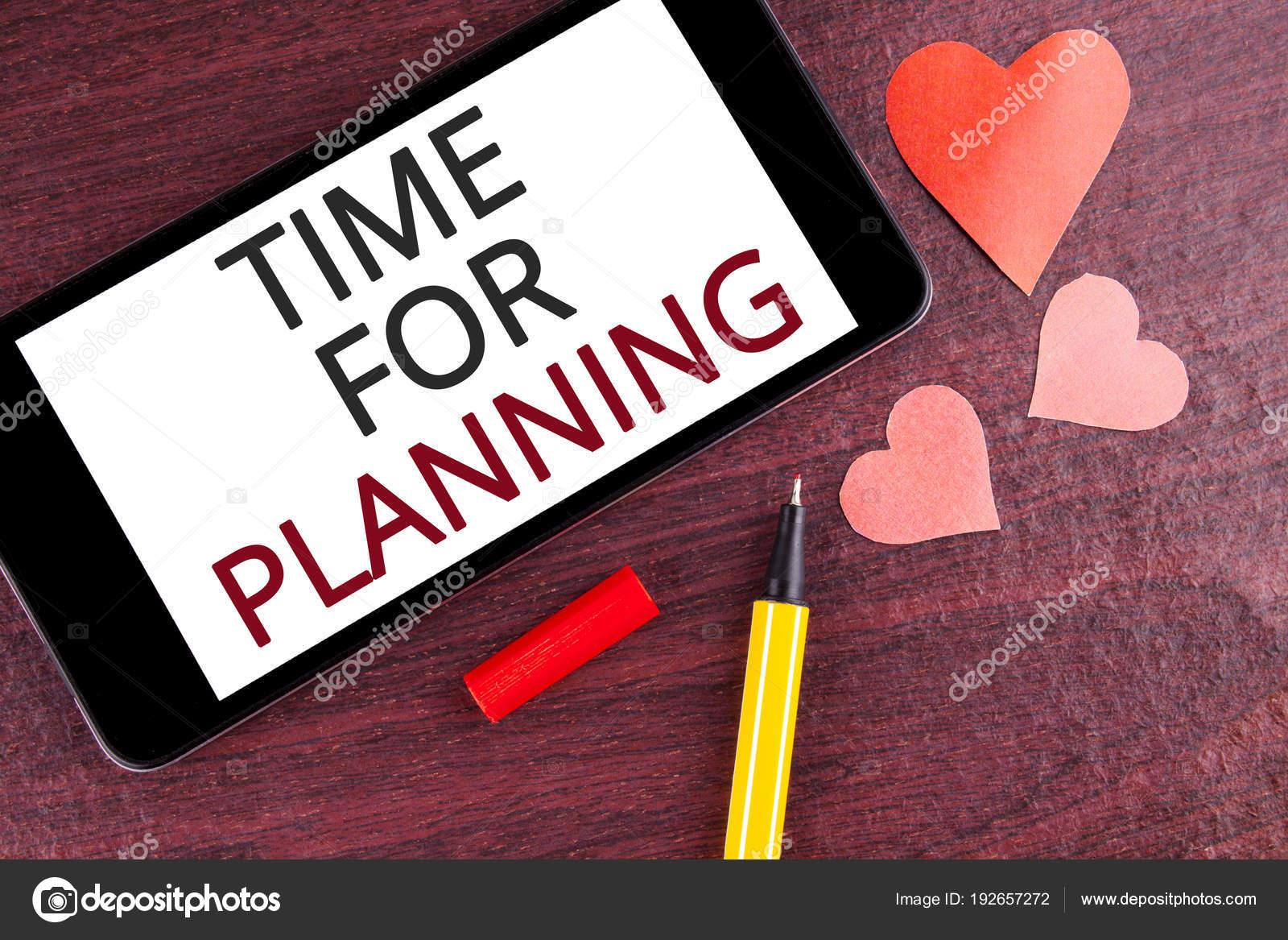 Zaman Planlama Gösterilen Not Yazma Başlangıç Vitrine Iş Fotoğraf