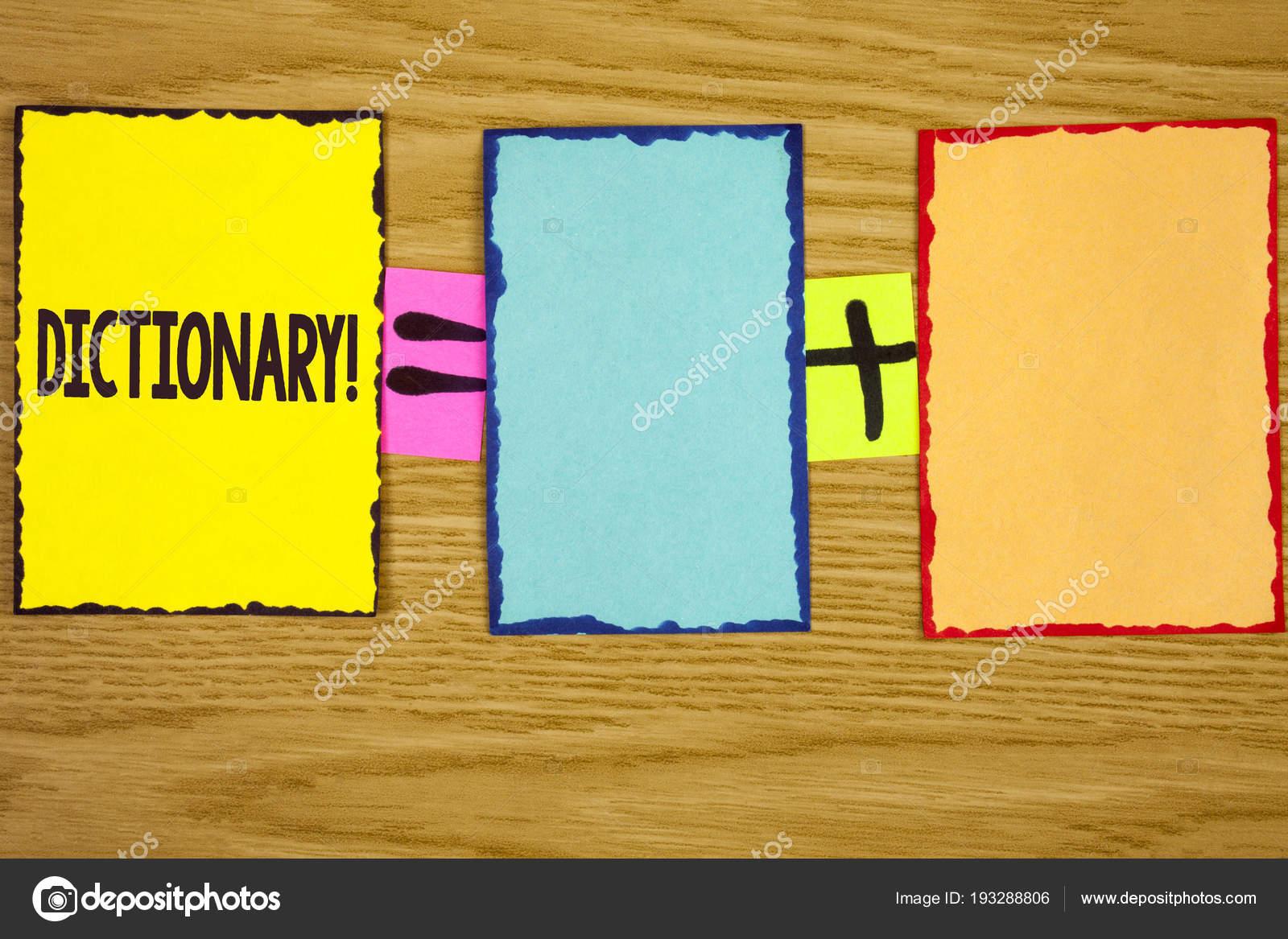 Muestra De Texto Mostrando Diccionario Motivacionales Llamar