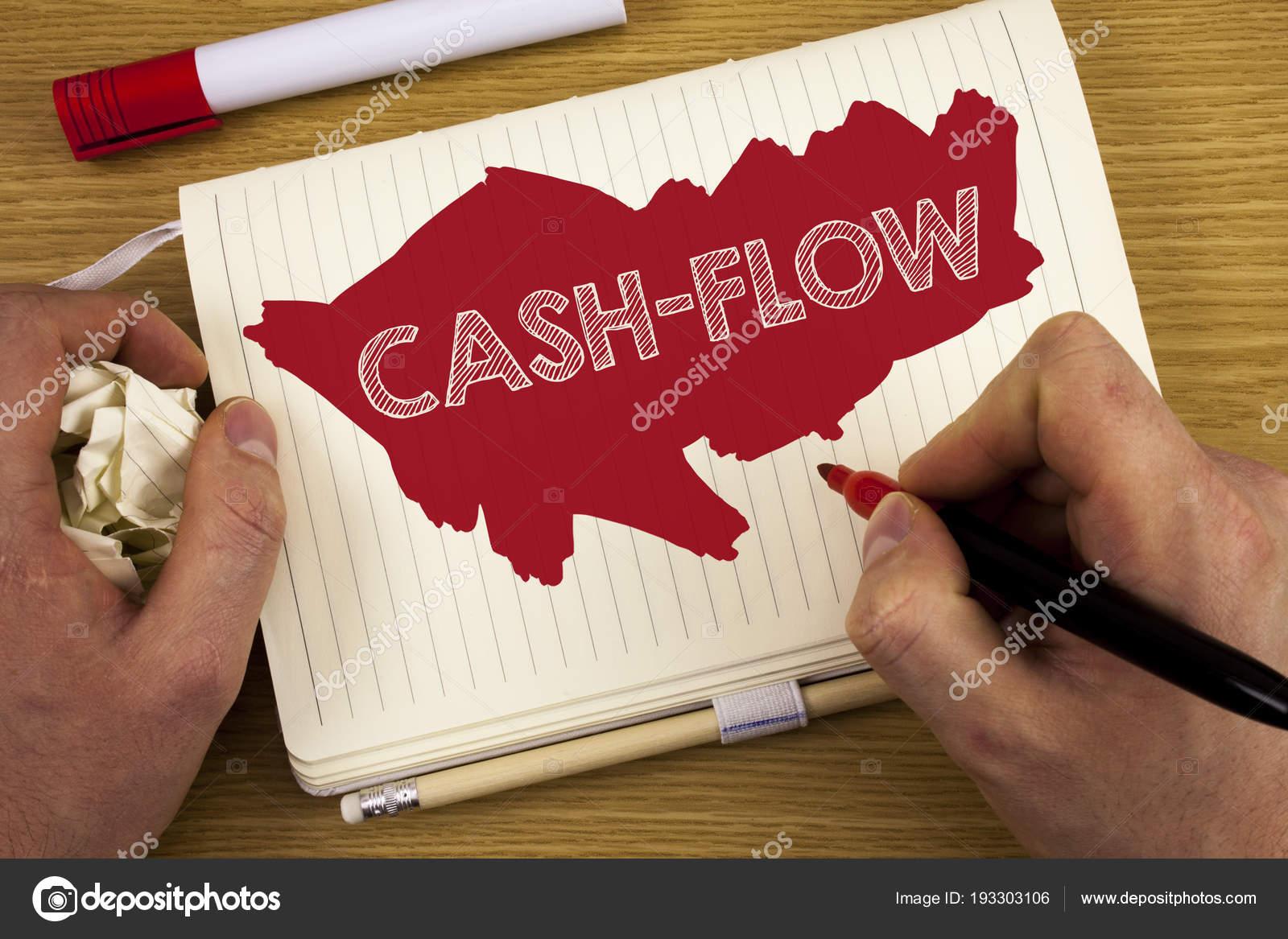 Palavra Escrita De Texto Cash Flow Conceito De Negócio Para