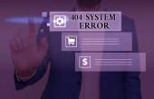 Text rukopisu psaní 404 chyba systému. Koncept význam zpráva se zobrazí, když webové stránky je dole a nelze dosáhnout.