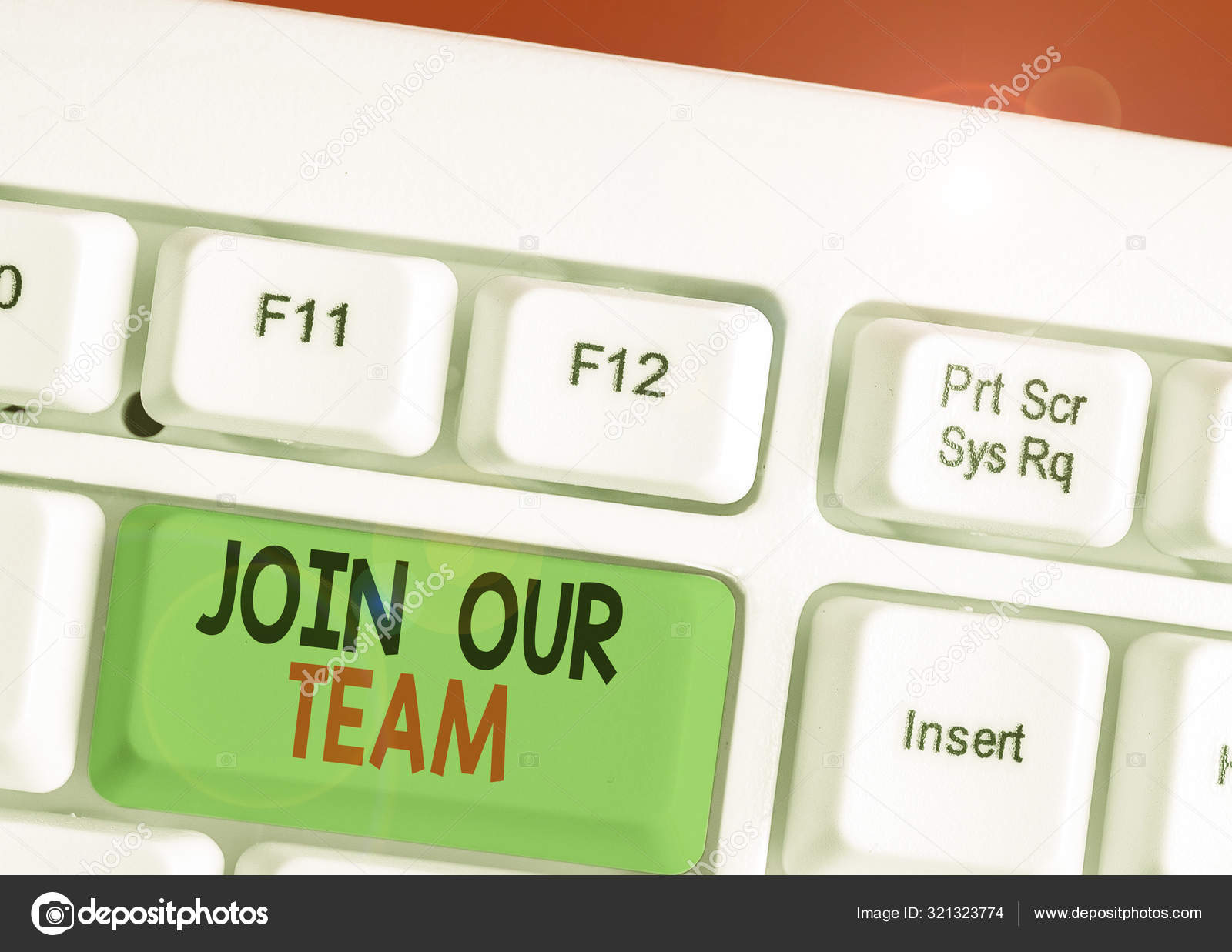 Handwriting Text Writing Join Our Team Concept Meaning Allied