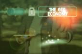 Textovka ukazující The Gig Economy. Konceptuální foto Trh krátkodobých smluv na volné noze práce dočasné.