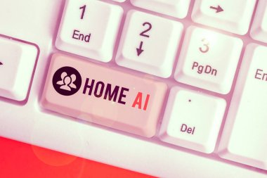 Handwriting text writing Home Ai. Conceptual photo home solution that enables automating the bulk of electronic