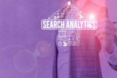 Word writing text Search Analytics. Business photo showcasing investigate particular interactions among Web searchers