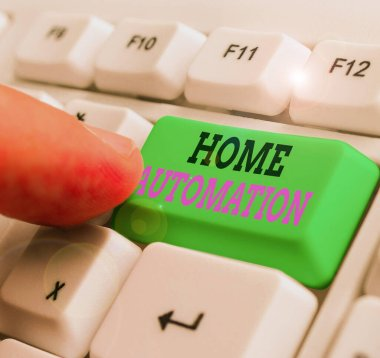 Word writing text Home Automation. Business photo showcasing home solution that enables automating the bulk of electronic