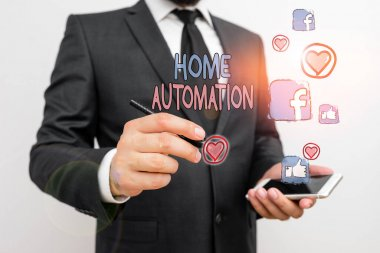Word writing text Home Automation. Business concept for home solution that enables automating the bulk of electronic.