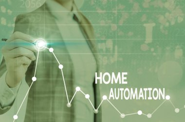 Text sign showing Home Automation. Business photo text home solution that enables automating the bulk of electronic