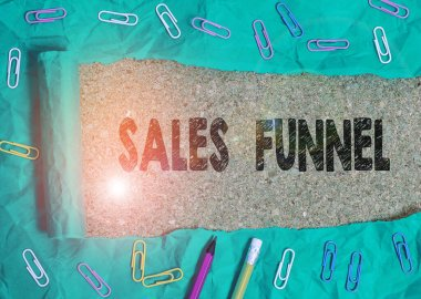 Conceptual hand writing showing Sales Funnel. Business photo text process through which a company ells its products to buyers.