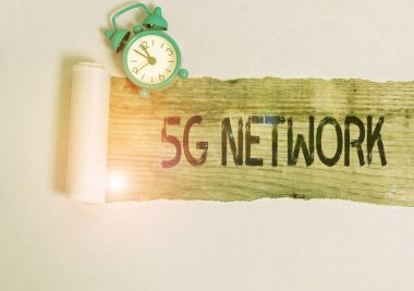 Text sign showing 5G Network. Conceptual photo greatly increase the speed and responsiveness of wireless network.