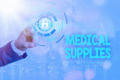 Writing note showing Medical Supplies. Business photo showcasing Items necessary for treatment of illness or injury.