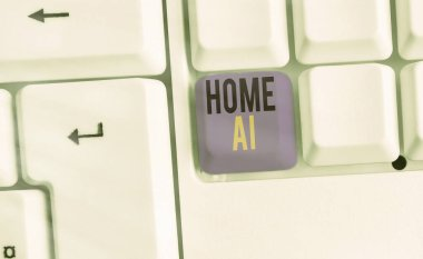 Conceptual hand writing showing Home Ai. Business photo text home solution that enables automating the bulk of electronic.