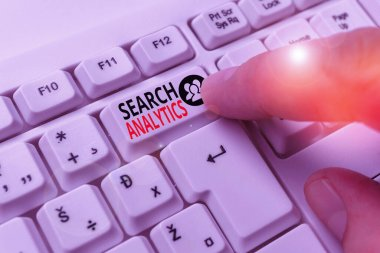 Word writing text Search Analytics. Business concept for investigate particular interactions among Web searchers.
