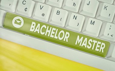 Word writing text Bachelor Master. Business concept for An advanced degree completed after bachelor s is degree.
