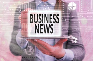 Text sign showing Business News. Conceptual photo Commercial Notice Trade Report Market Update Corporate Insight.
