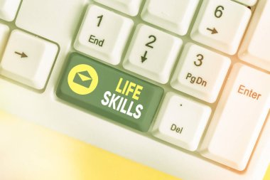 Conceptual hand writing showing Life Skills. Business photo showcasing skill that is necessary for full participation in everyday life.