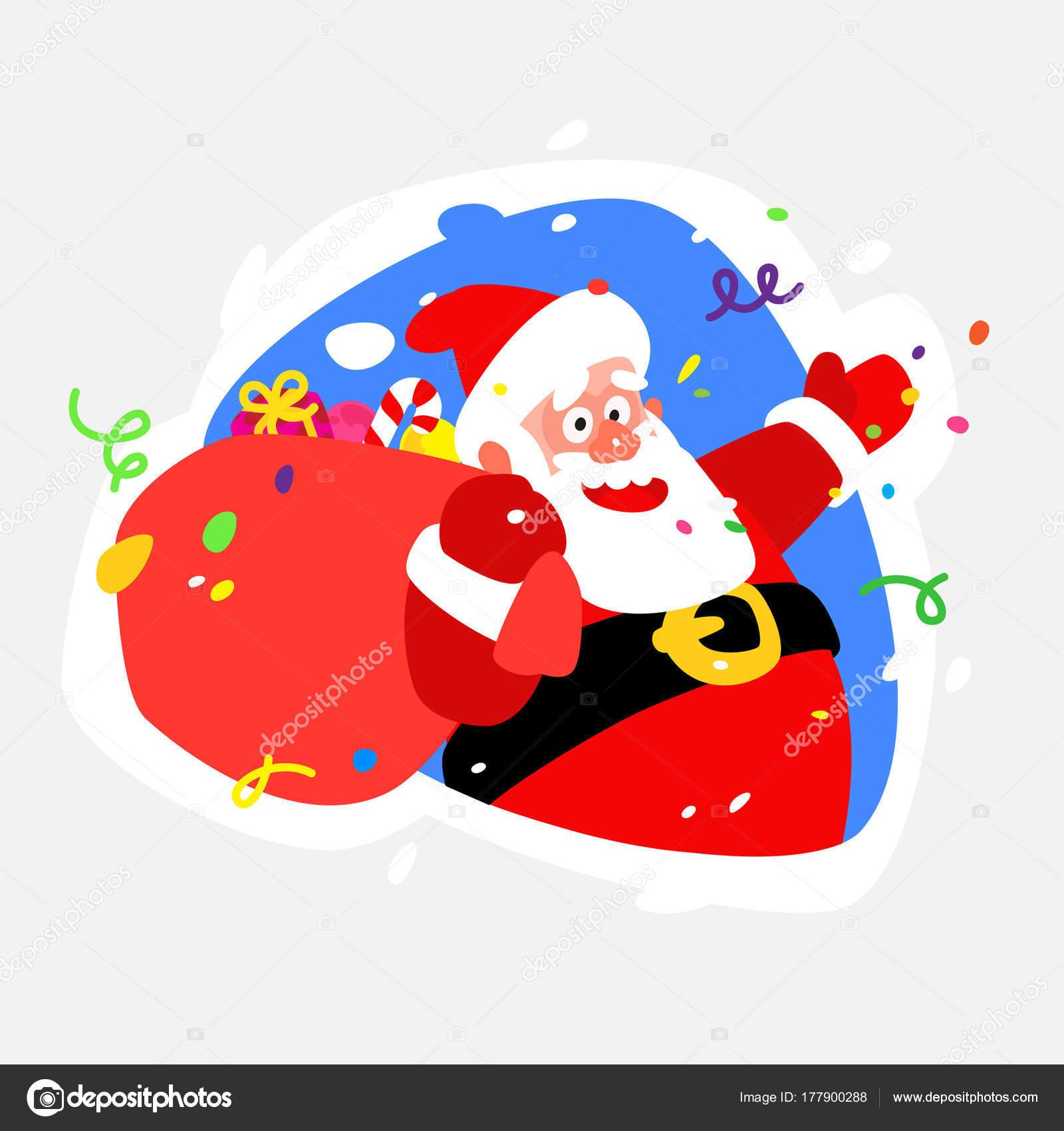 Imagenes Sticker Sticker Papa Noel Ilustracion Del Icono De - Papa-noel-para-imprimir