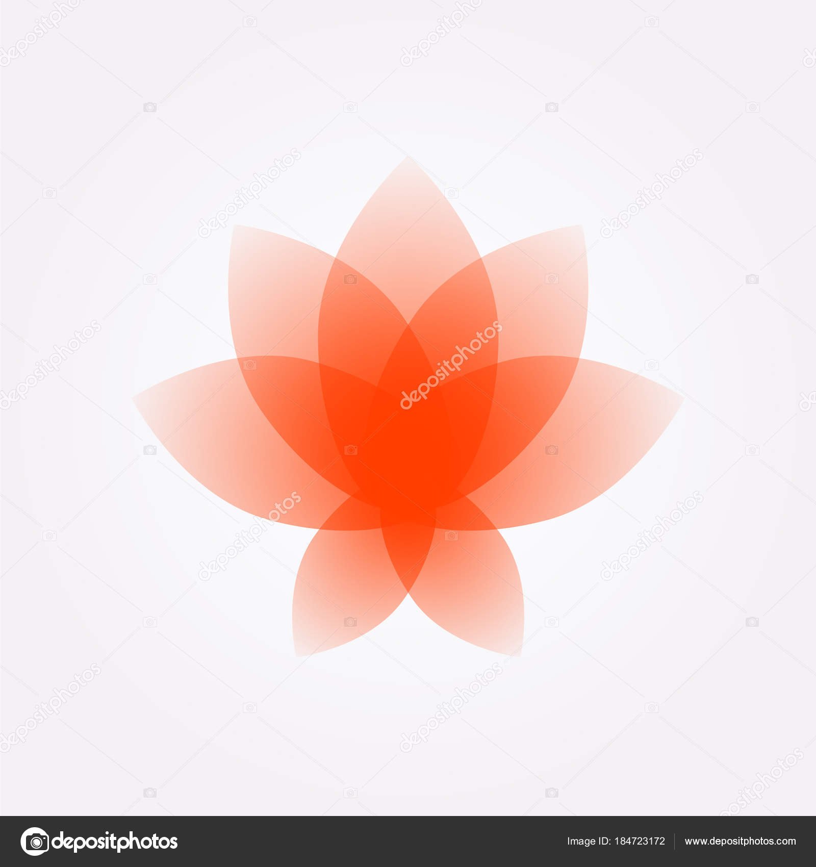 Lotus Flower Logo Sign Vector Flat Flower Icon Minimalistic