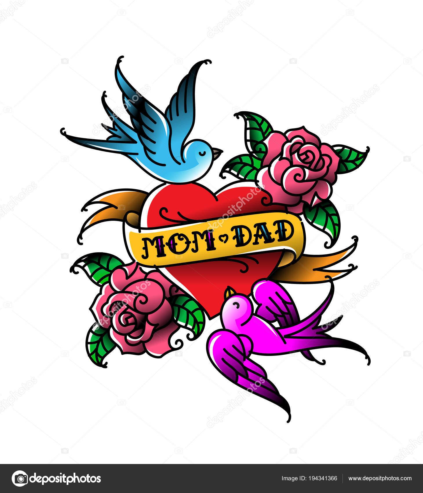 Fotos Tatuajes Mama Y Papa Tatuajes Con Inscripción Mamá Papá Dos