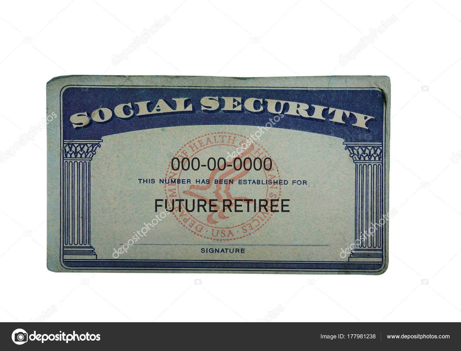 Future Photo Zimmytws 177981238 Card © — Security Retiree Social Stock