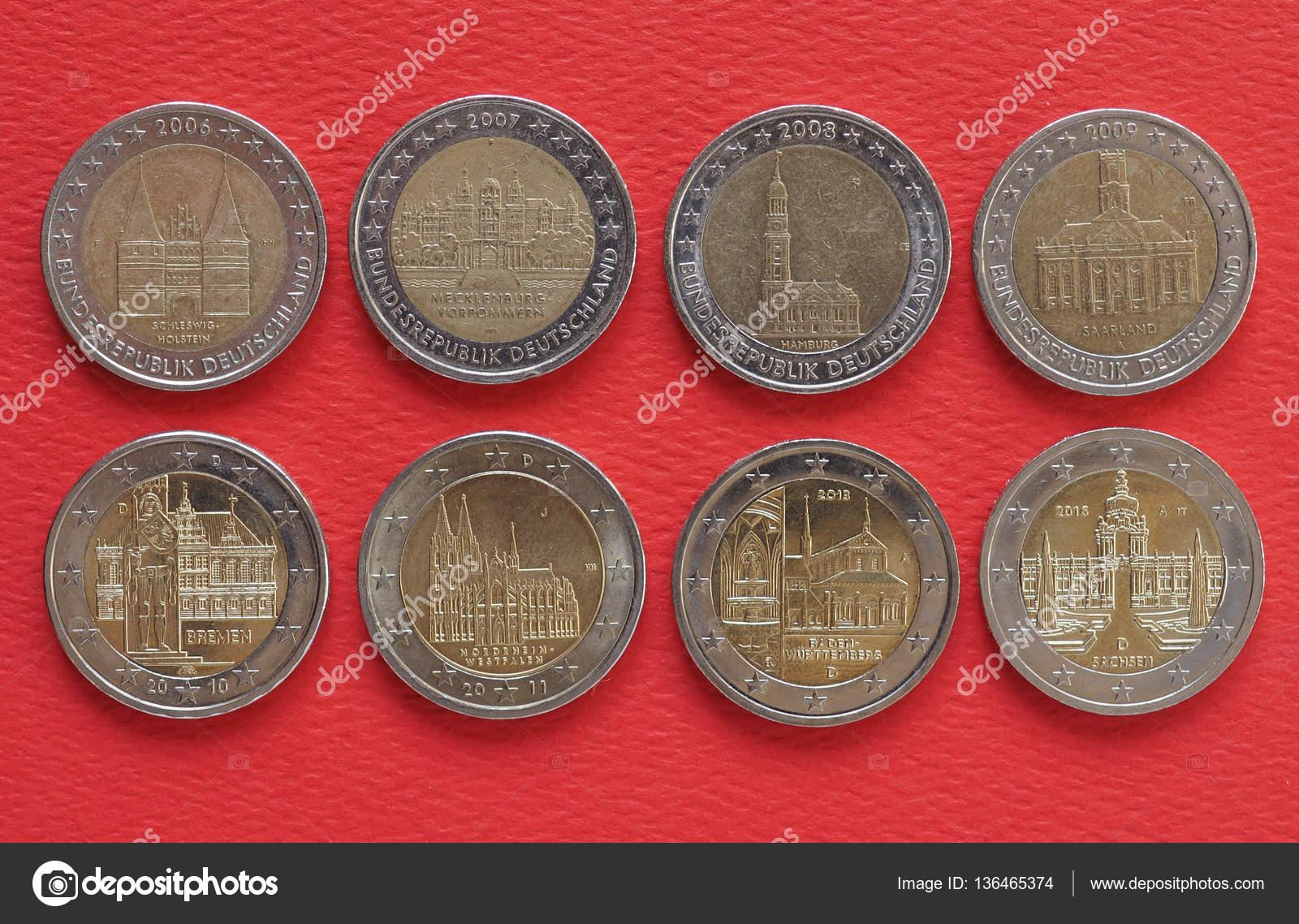 2 ユーロ硬貨、欧州連合、ドイツ...