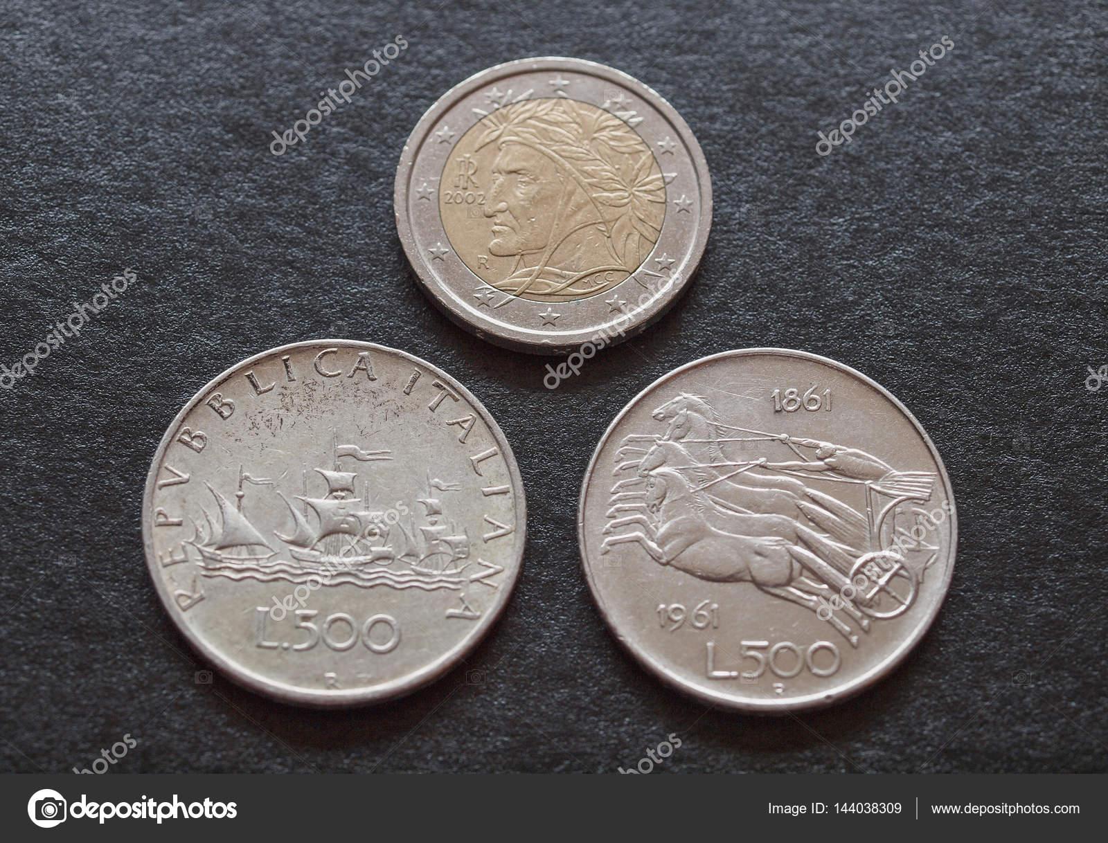 Italienische Lire Silber Münzen Bis Die 1960er Jahre Zurückreicht