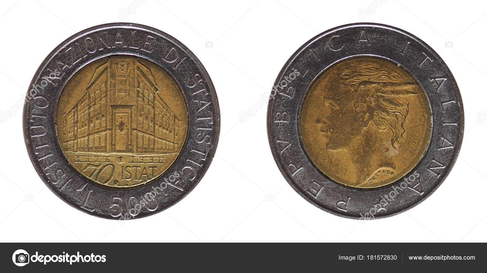 500 Lire Münze Geld Itl Währung Italiens Istituto Nazionale