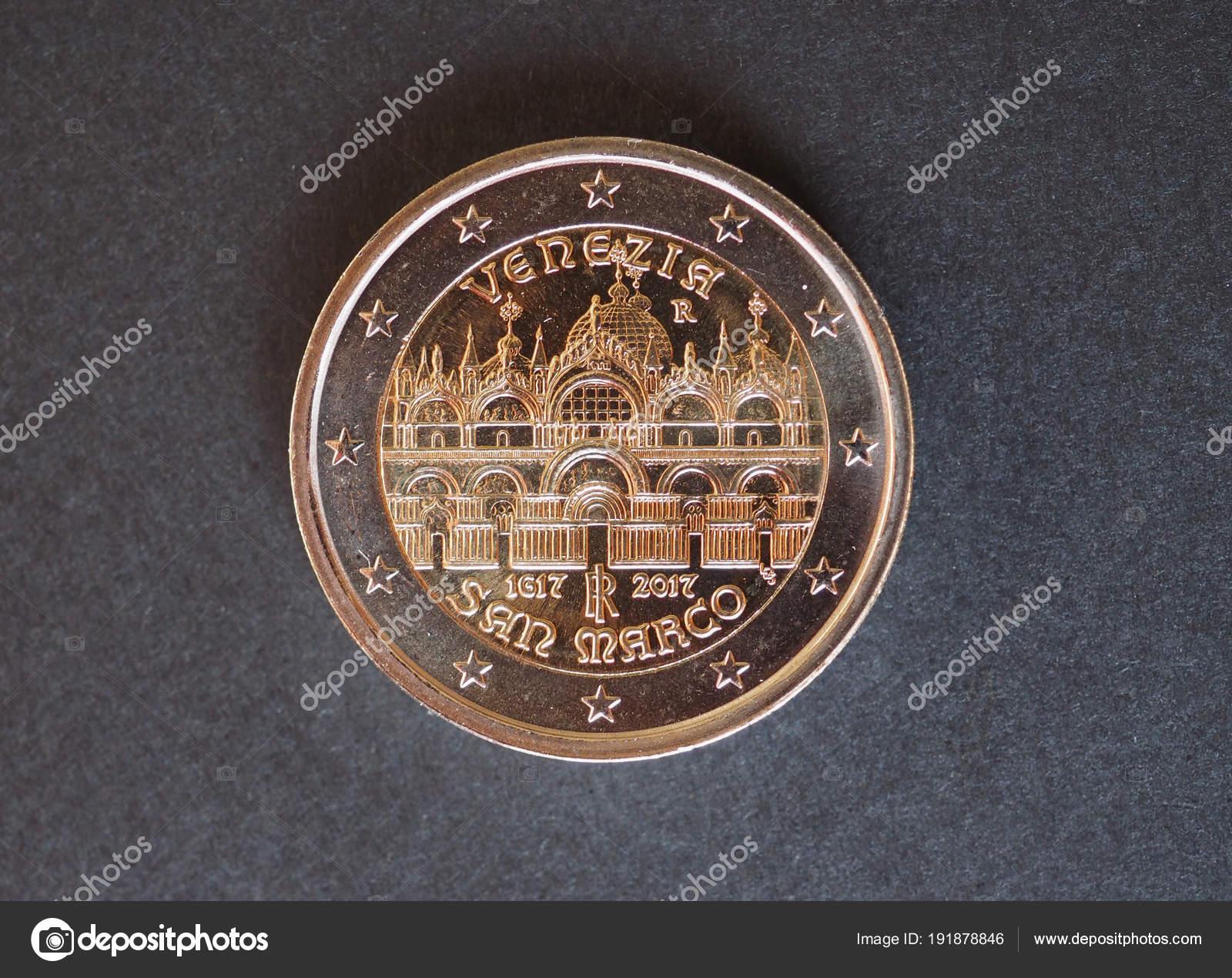 2 Euro Münze Europäische Union Stockfoto Route66 191878846