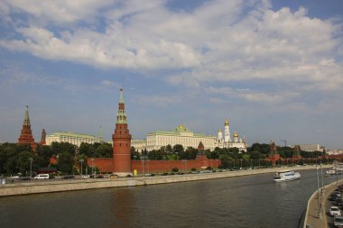 View of the Moscow Kremlin and Moscow River, Russia