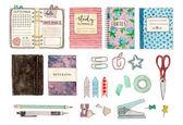 set of stationery and school stuff