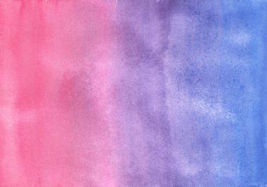 watercolor pink and ultramarine gradient texture.