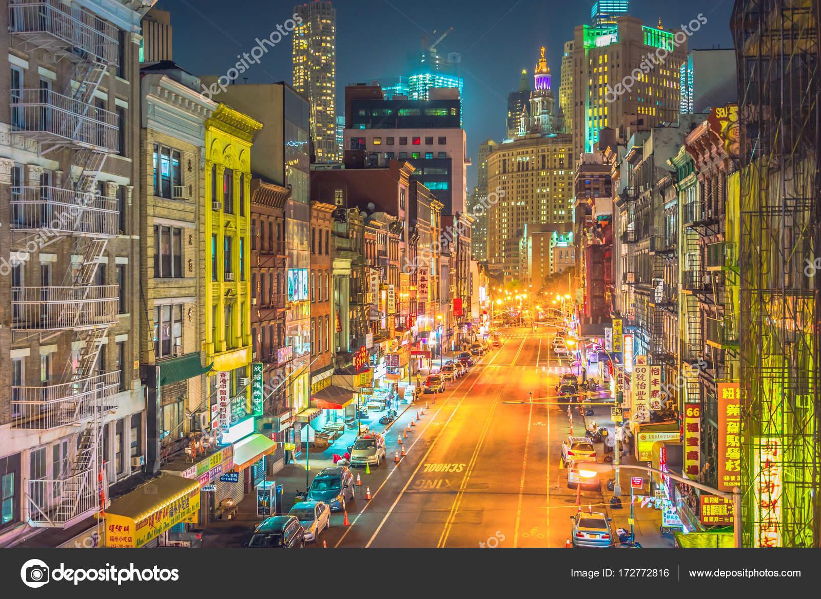 New York City At Night Chinatown Stock Photo C Chumakov16 172772816
