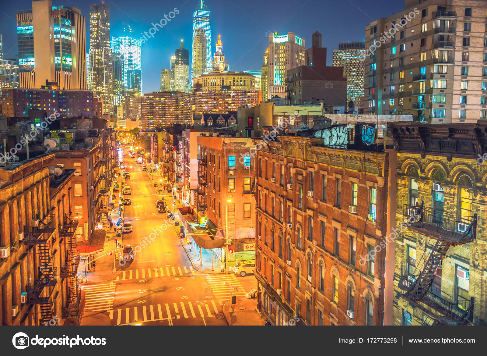 New York City At Night Chinatown Stock Photo C Chumakov16 172773298
