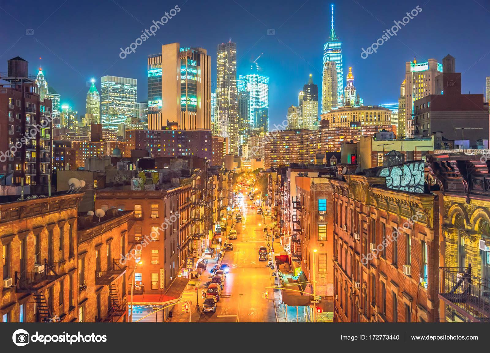 New York City At Night Chinatown Stock Photo C Chumakov16 172773440