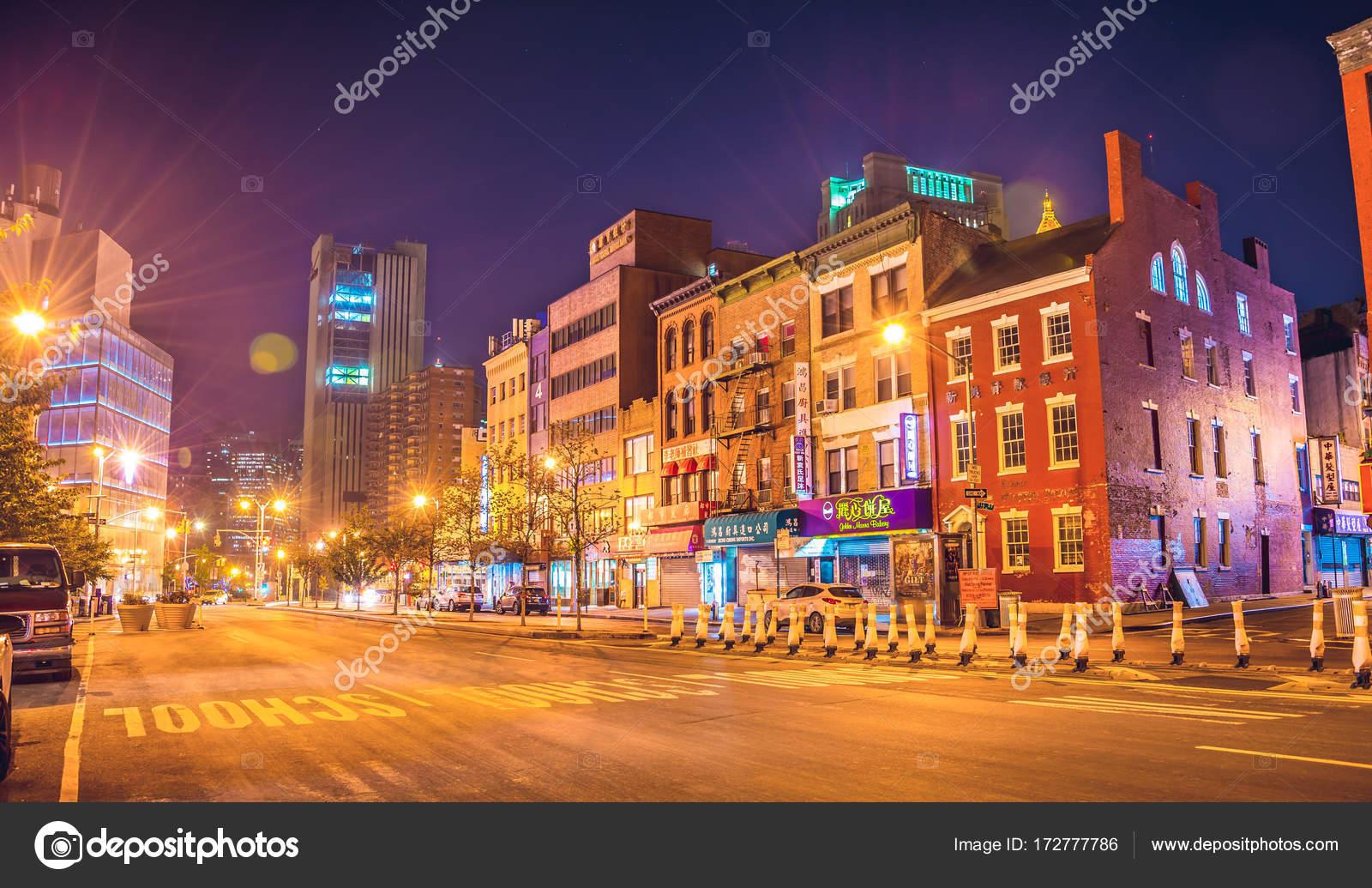 New York City At Night Chinatown Stock Photo C Chumakov16 172777786