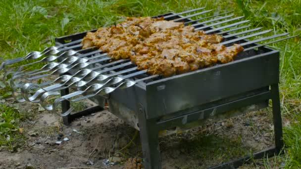 Pácolt sashlikot grillezünk. Shashlik egy formája Shish kebab népszerű Kelet-, Közép-Európában és más helyeken. Shashlyk, vagyis nyárson sült hús eredetileg bárányból készült..