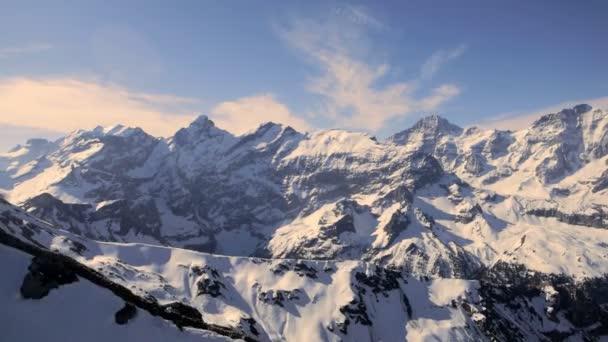 snow mountain panorama mountain peak alps glaciers aerial view