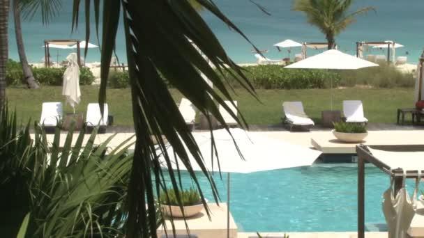 turks and caicos island hotel resort poolside