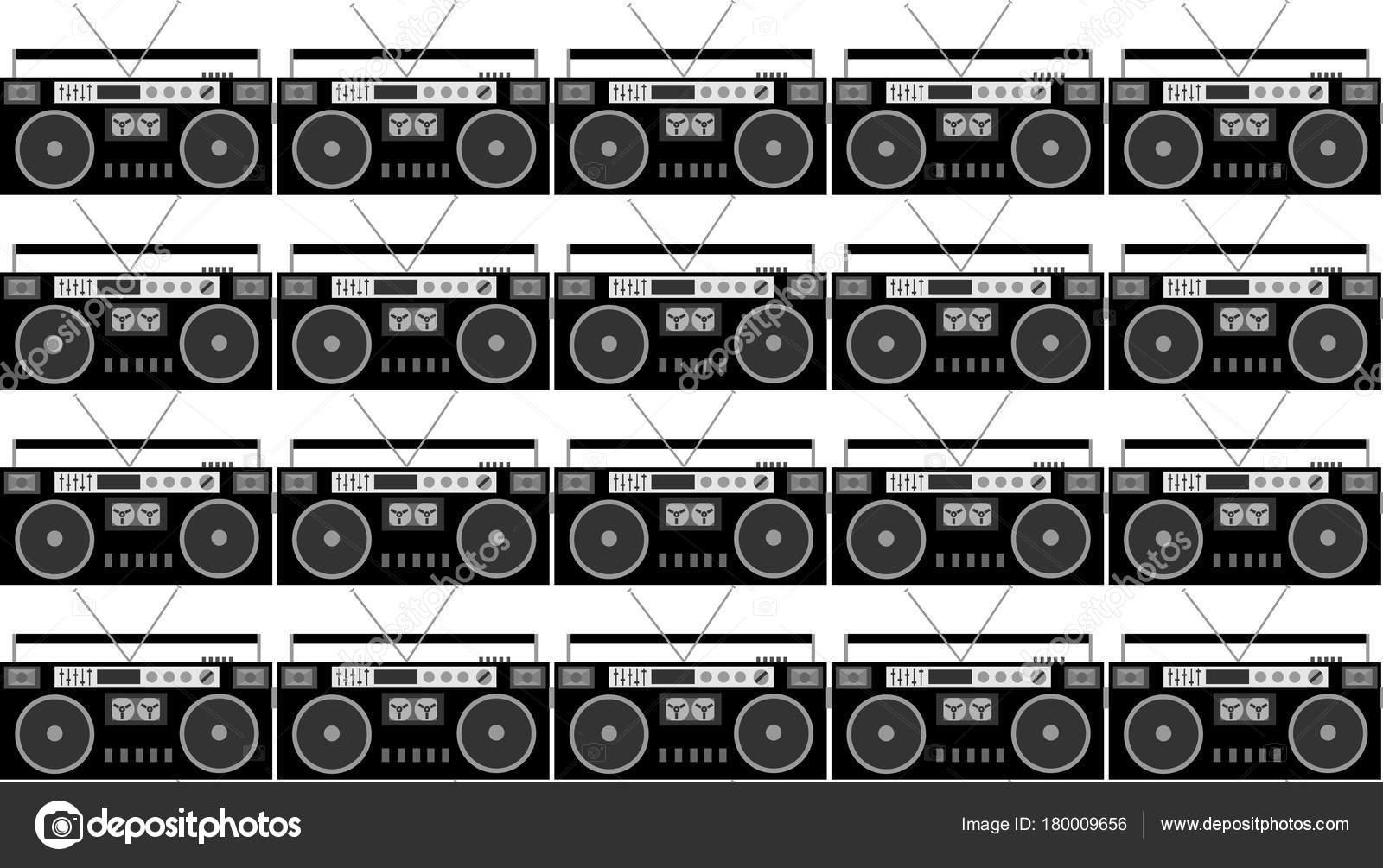 patrn blanco negro gris hipster hermosos vintage retros audio registradores archivo imgenes vectoriales - Tabla Periodica A Blanco Y Negro
