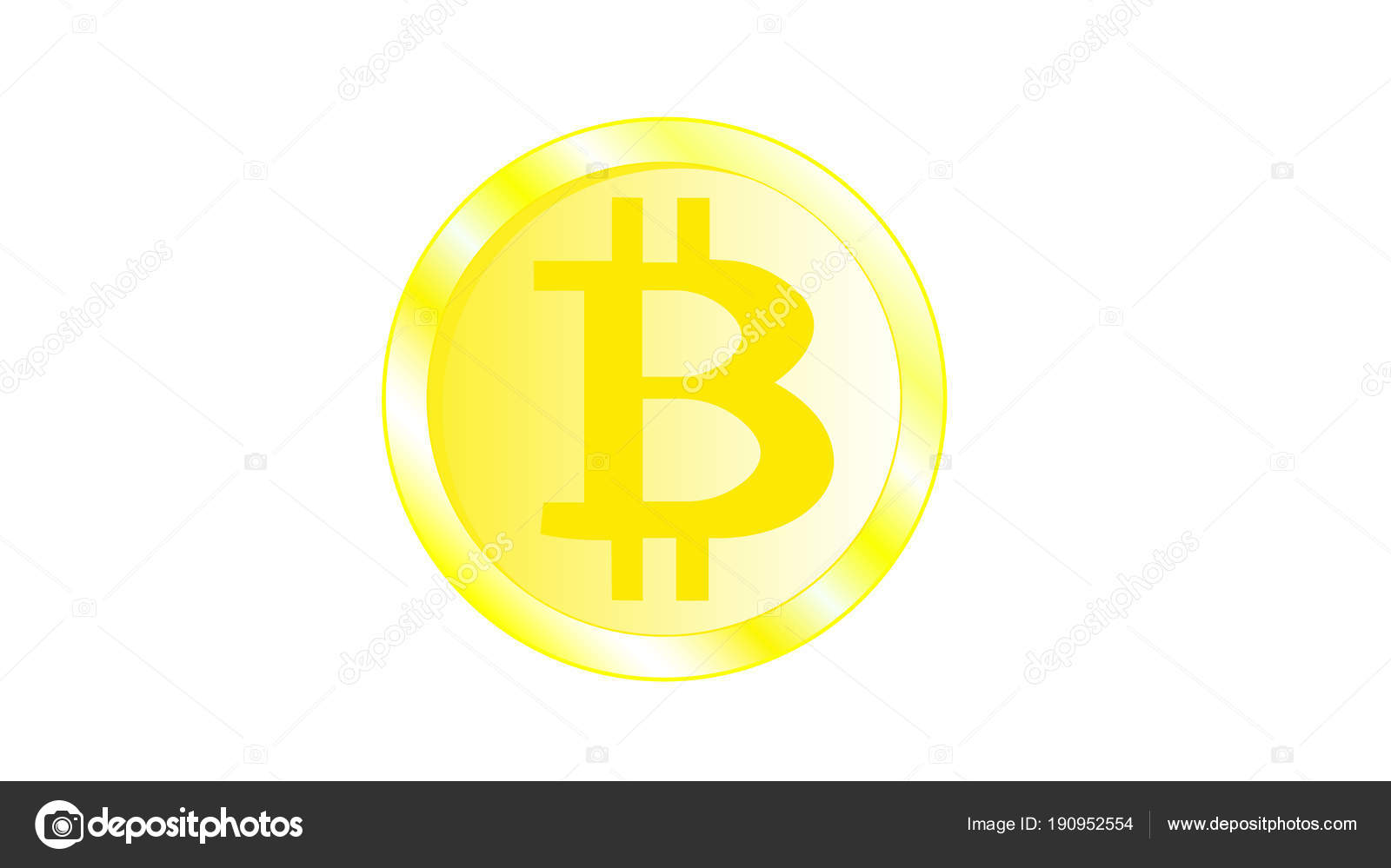 bright gold cryptocurrency coins white background image