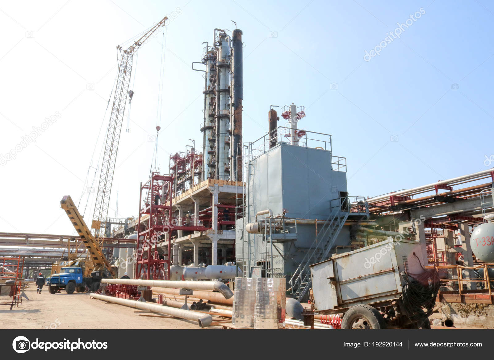 Construction Site Construction Oil Refinery Installation