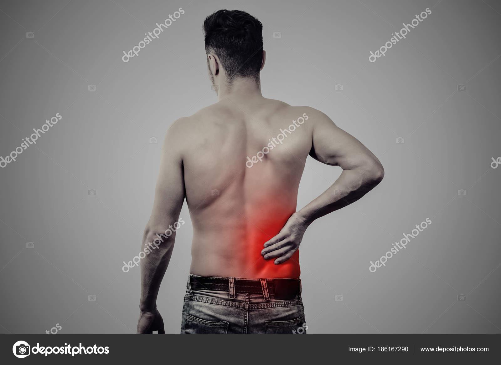 hombre con dolor de espalda baja — Fotos de Stock © Feodora52 #186167290