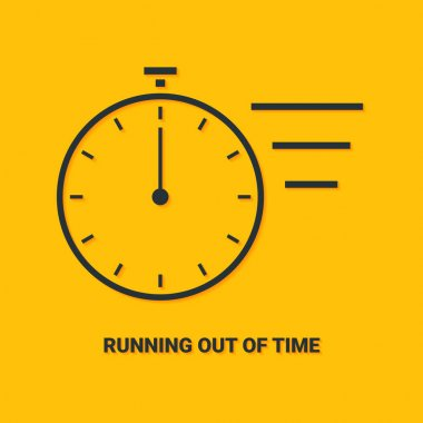 Hurry up concept. Running out of time