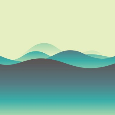 Waves abstract background. Poster card with soft colors