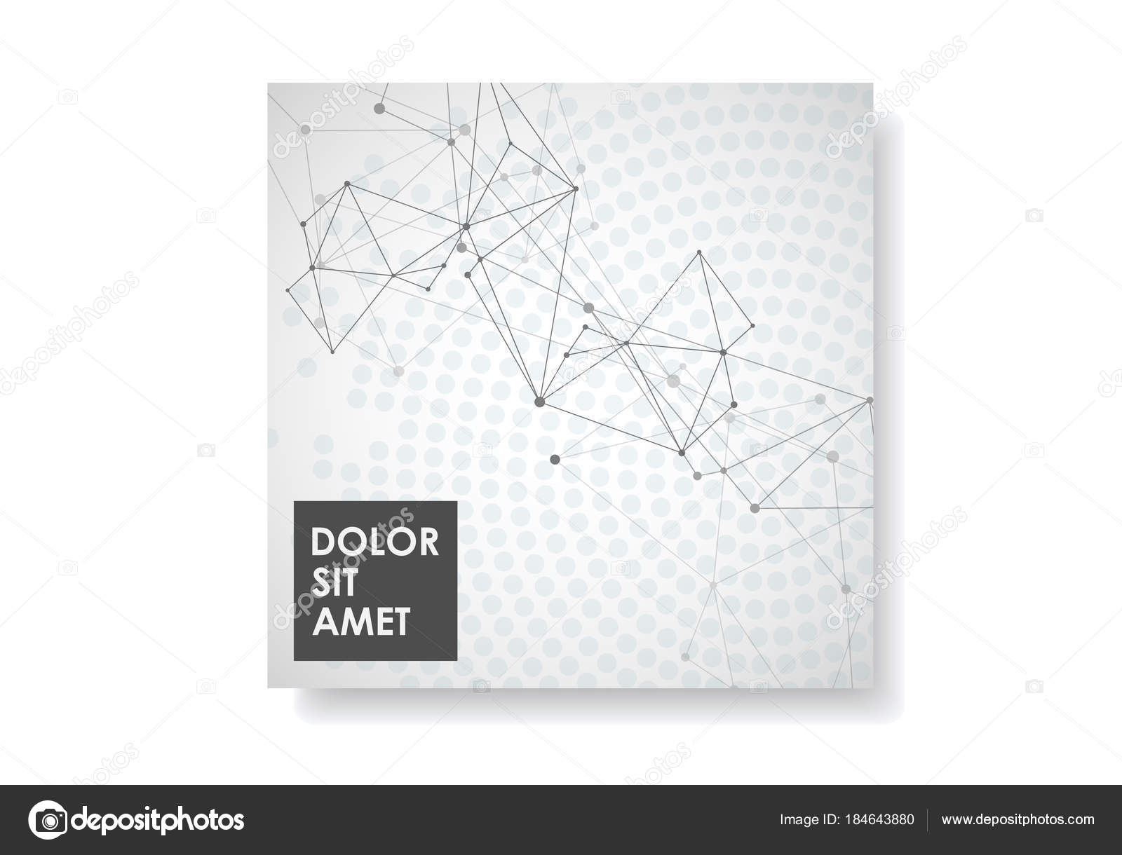 Drawing With Lines And Dots : Abstract geometric background with connected lines and dots