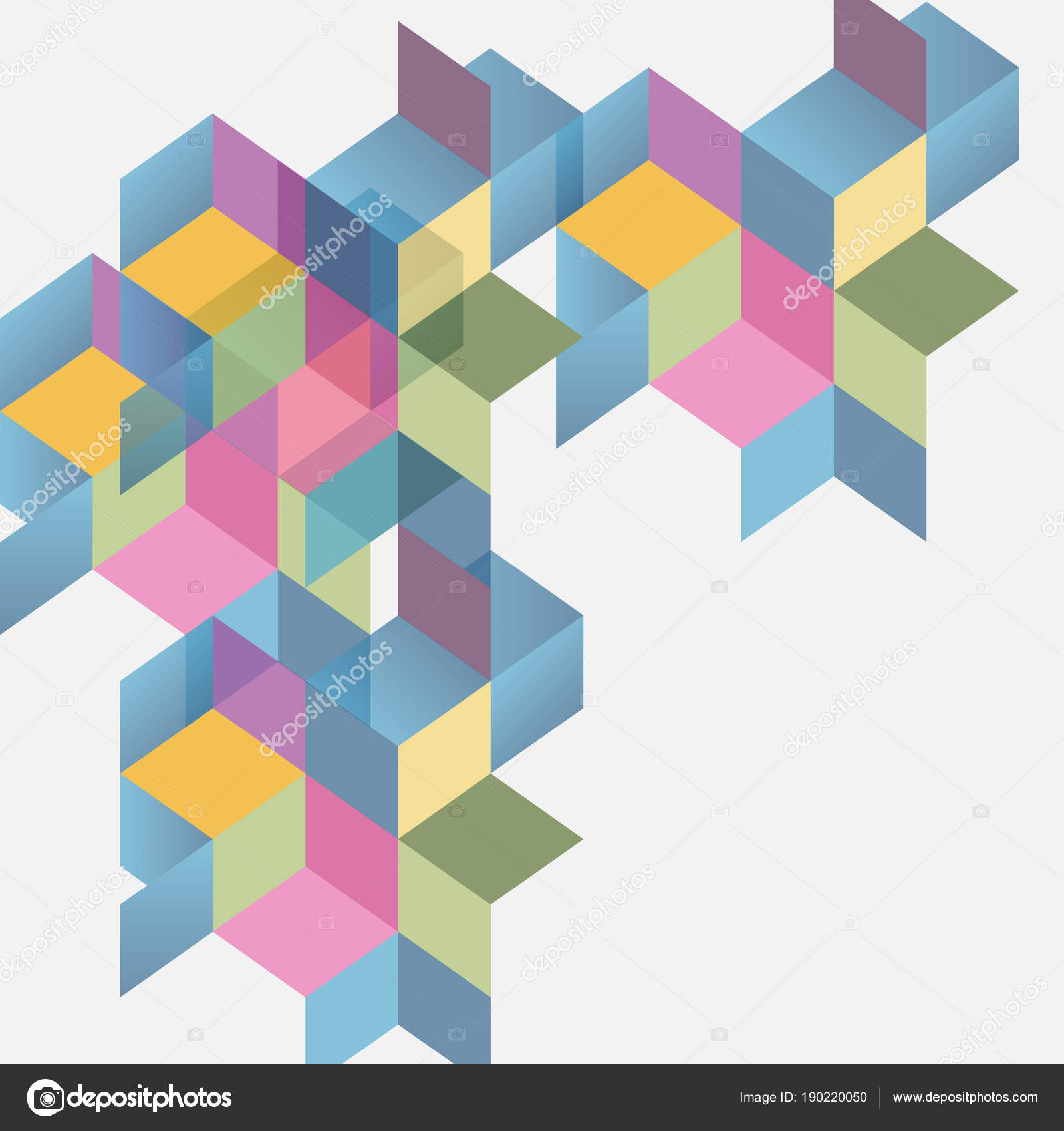 abstract isometric color shape background for your design stock