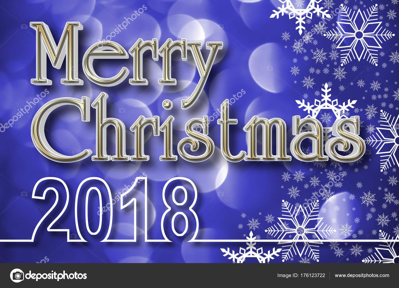 Frohe Weihnachten 3d.Stock Illustration Goldene Frohe Weihnachten 3d Defokussierten