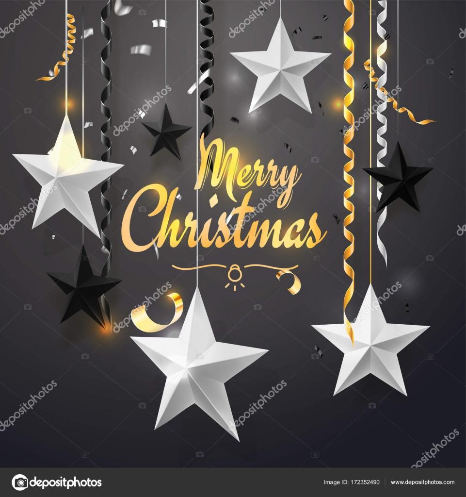Joyeux no l et fond de nouvel an 2018 pour affiche - Joyeux noel noir et blanc ...