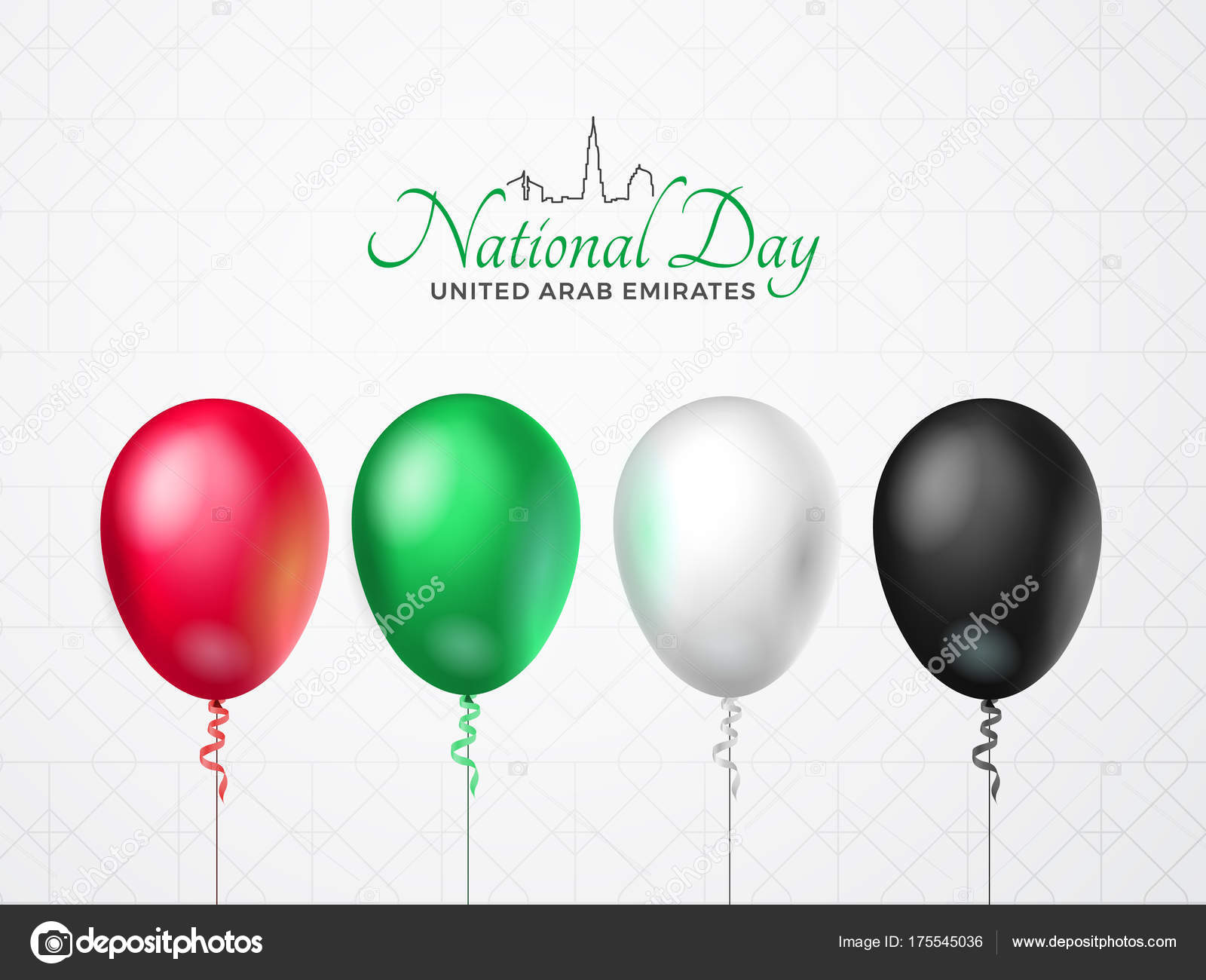 United Arab Emirates Happy National Day Greeting Card 2 December